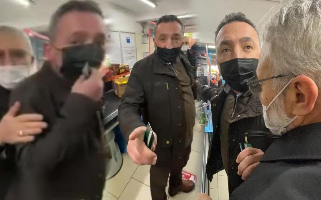 İstanbul 'seni süzgece çeviririm' deyip tehdit yağdırdı! Markette kabusu yaşattı