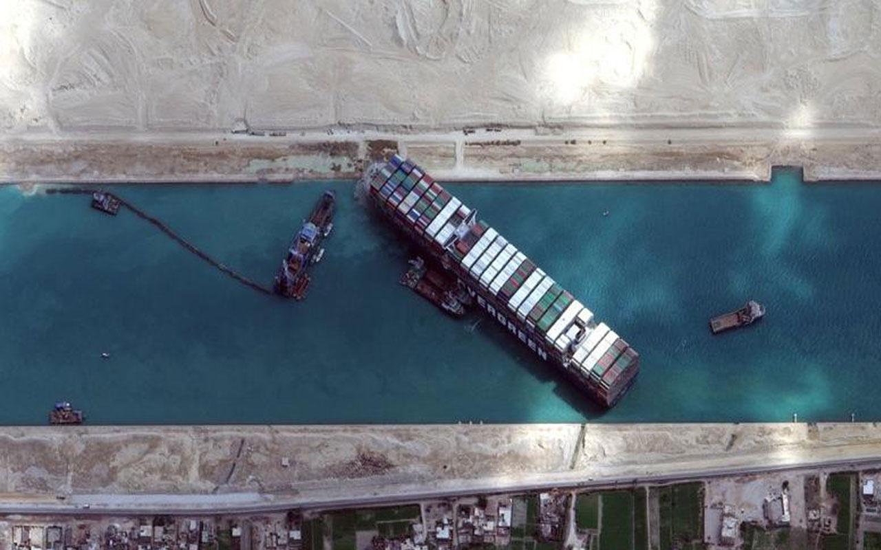 Süveyş Kanalı'nı kapatan Evergreen yüzdürüldü kanalda trafik yeniden başladı