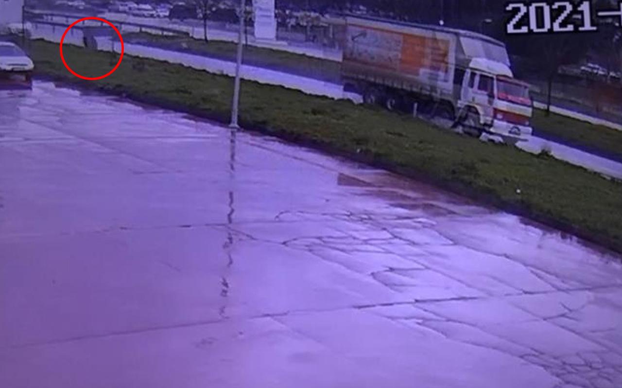 Bursa'da yolda şaşkına çeviren görüntü! Faciadan dönüldü