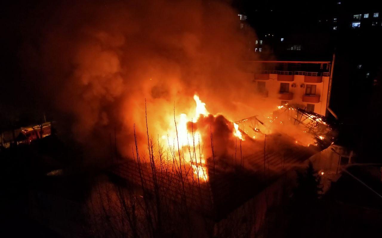 Kahramanmaraş'ta ordu evinde çıkan yangın söndürüldü