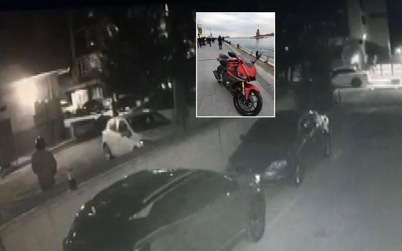 Kadıköy'de kredi çekerek aldığı lüks motosiklet saniyeler içerisinde çalındı