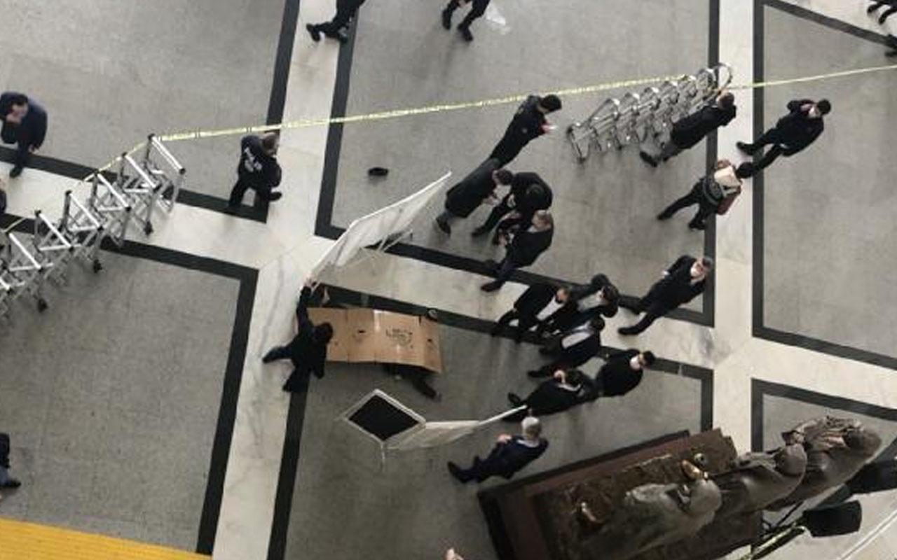 Bakırköy Adalet Sarayı'nda intihar: Mübaşir 7'nci kattan kendisini boşluğa bıraktı