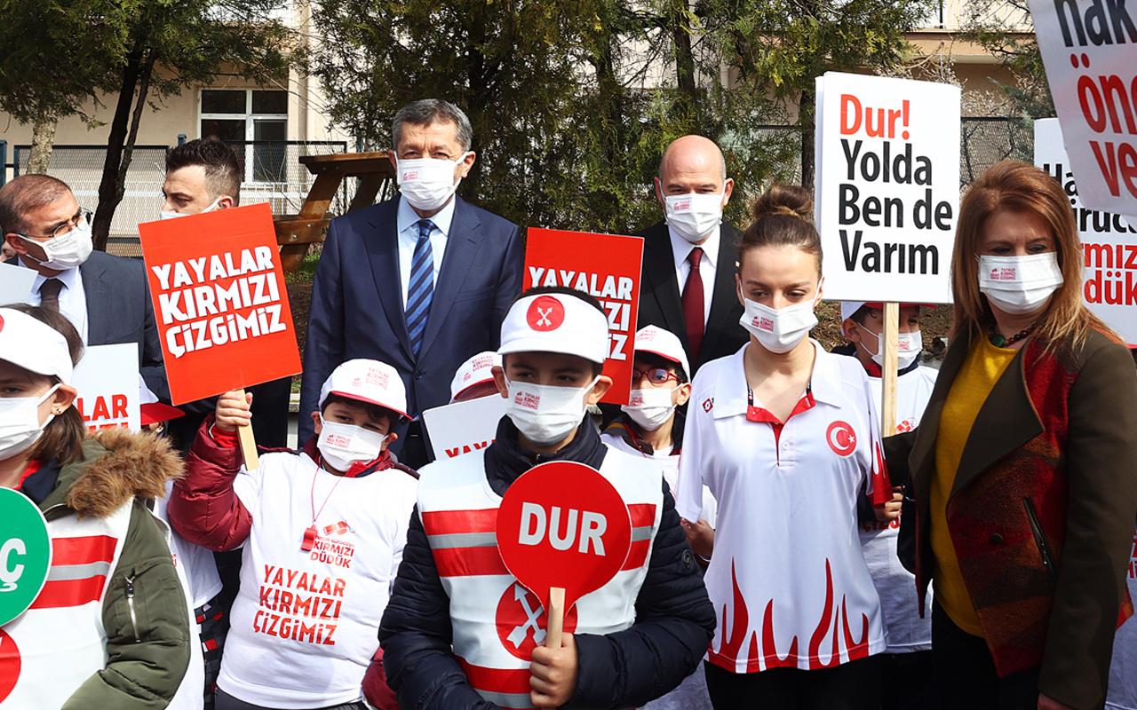 """Bakanlar Süleyman Soylu ve Ziya Selçuk, """"Yayalar Kırmızı Çizgimizdir"""" programına katıldı"""