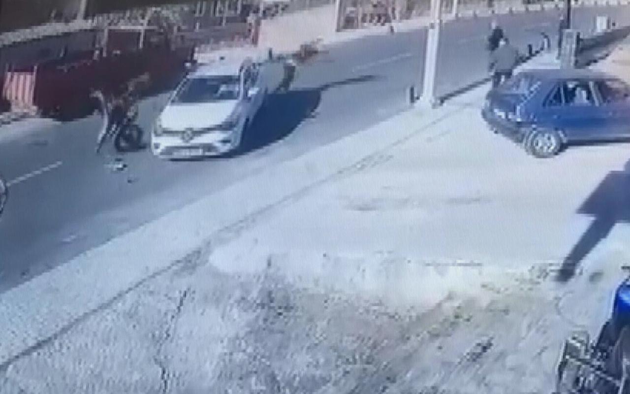 İstanbul Beykoz'daki feci motosiklet kazası kamerada