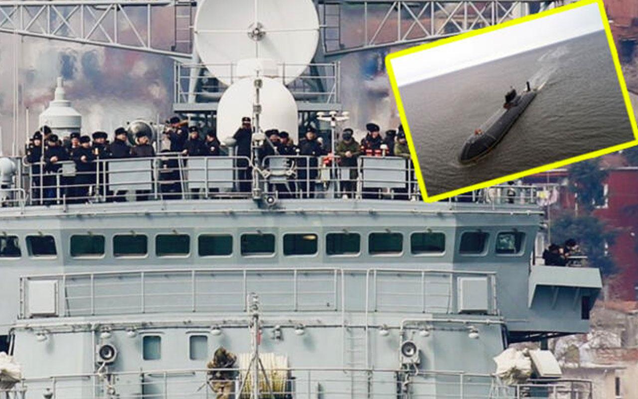 Rus donanması İstanbul Boğazı'ndan böyle geçti! Denizaltı kayıplara karıştı