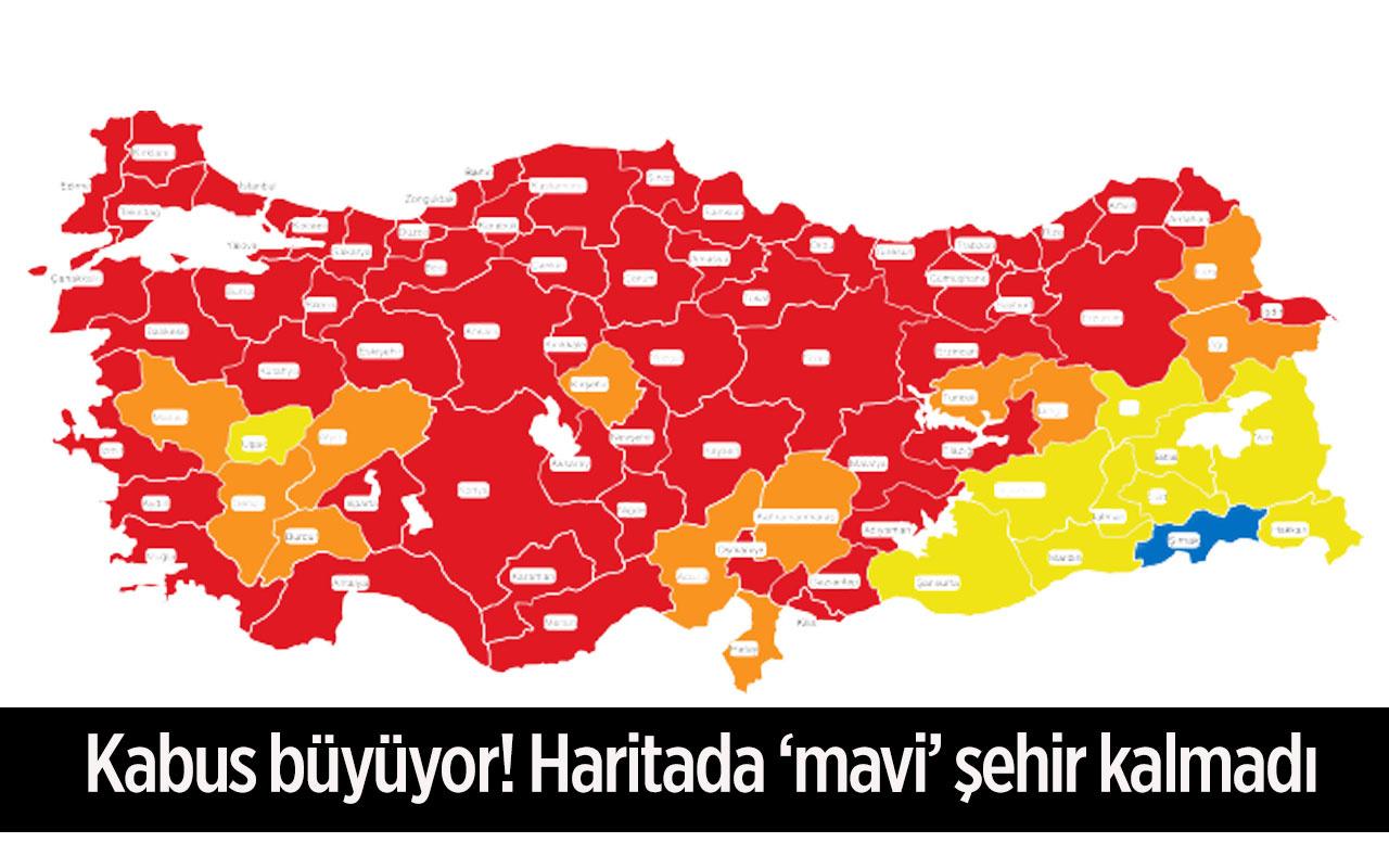 İstanbul'da korona 6 kat arttı! Haritada mavi il kalmadı günlük vaka sayısında yeni rekor