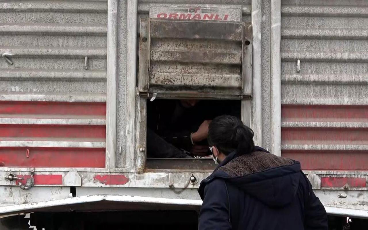 Van'da TIR dorsesinde 218 düzensiz göçmen yakalandı