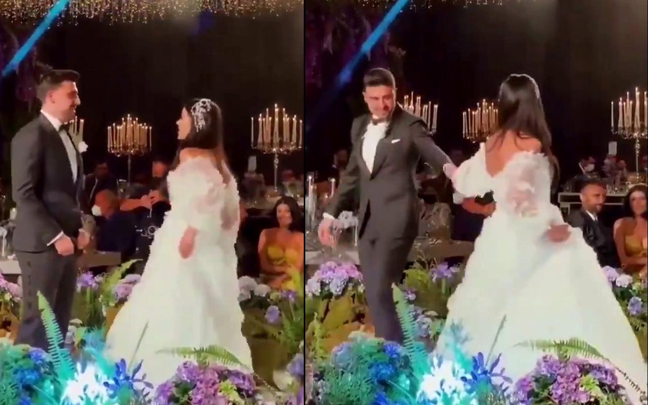 Ozan Tufan'ın Rojin Haspolat'la düğün dansı olay oldu! İzleyenleri güldürdü