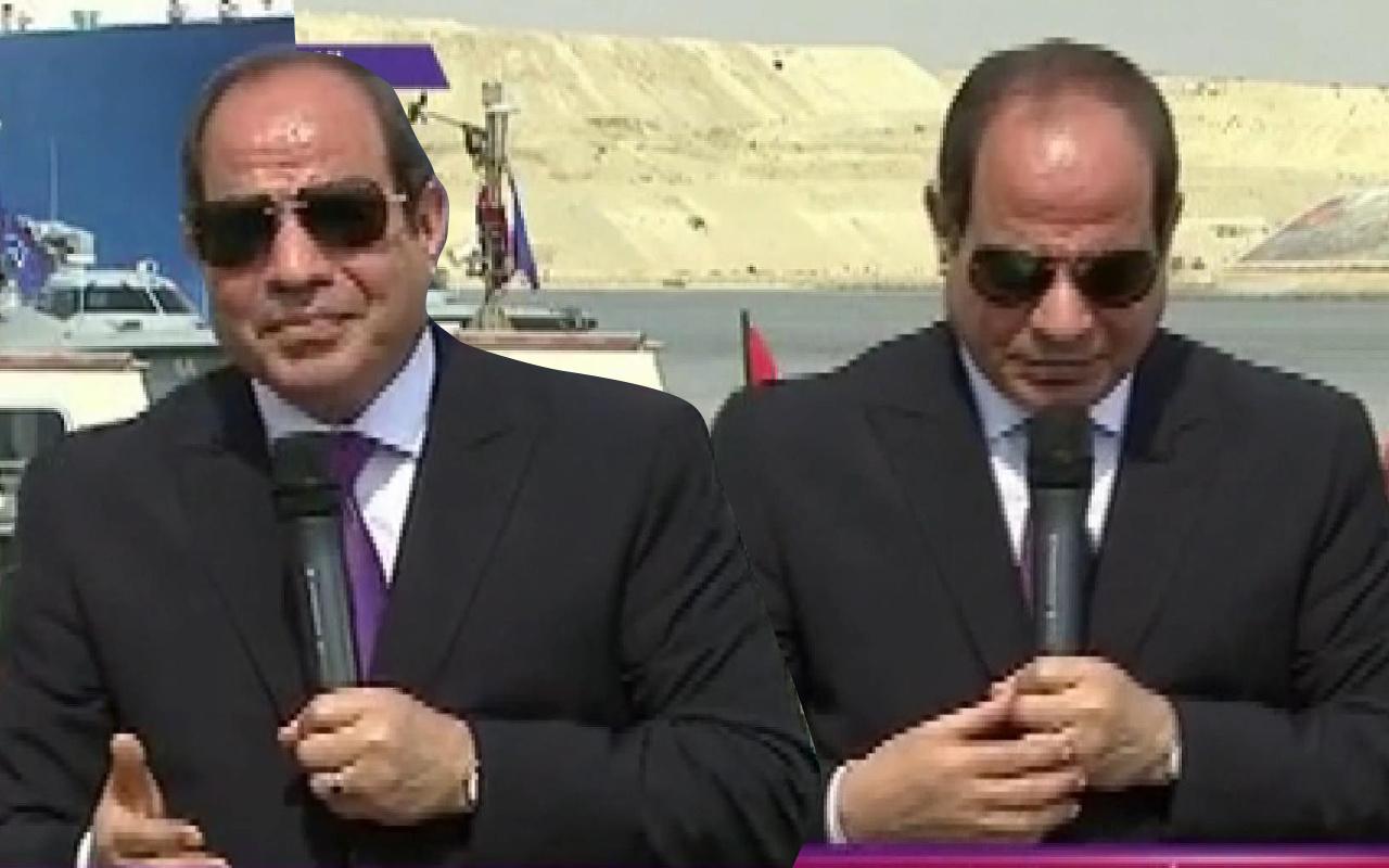 Mısır Cumhurbaşkanı Sisi'nin zor anları! Bir türlü konuşamadı