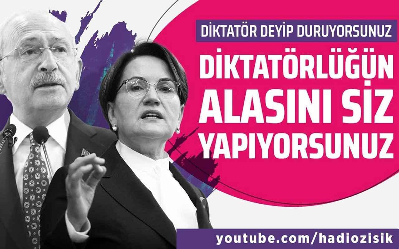 Kılıçdaroğlu ve Akşener diktatörlüğün alasını yapıyorlar!