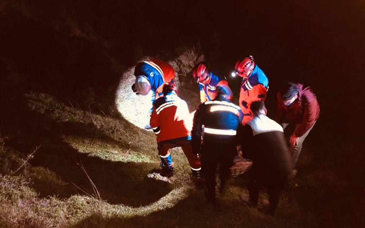 Maden mühendisinin korku dolu anları! Metrelerce yuvarlandı son anda kurtarıldı