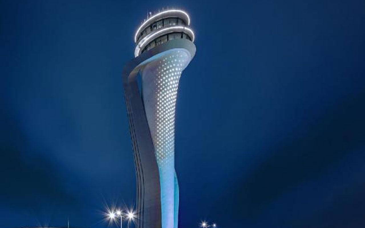 İstanbul Havalimanı Hava Trafik Kontrol Kulesinin ışıkları otizm için mavi yandı