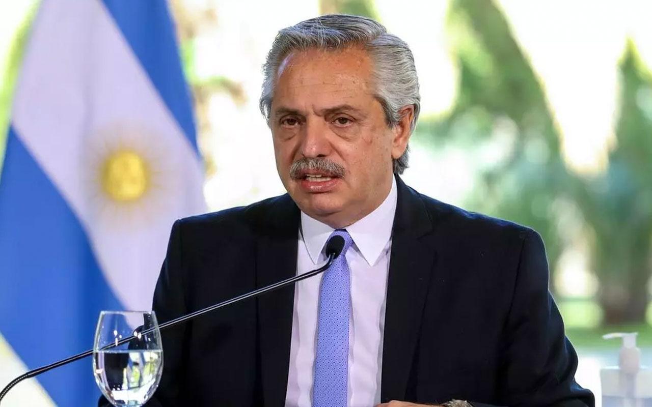 İlk doz aşı yaptıran Arjantin Devlet Başkanı Alberto Fernandez Covid-19'a yakalandı