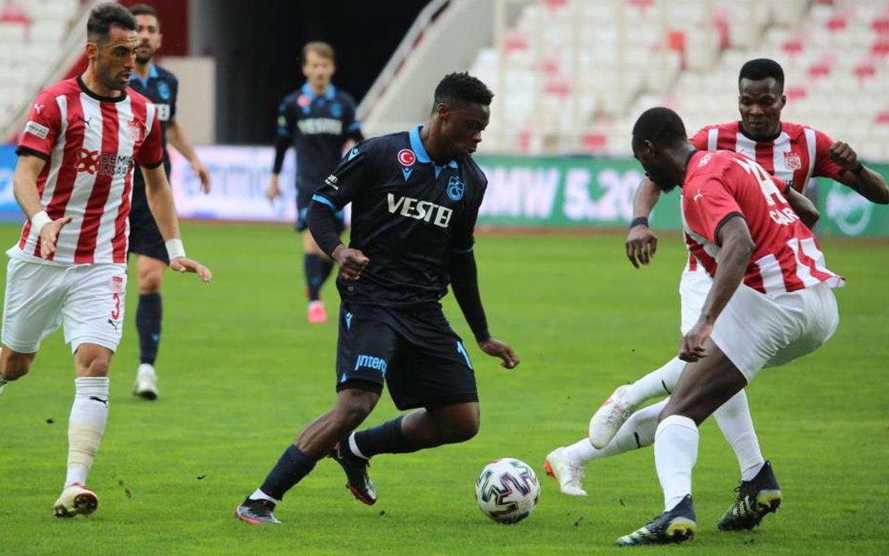 Sivasspor ile Trabzonspor golsüz berabere kaldı