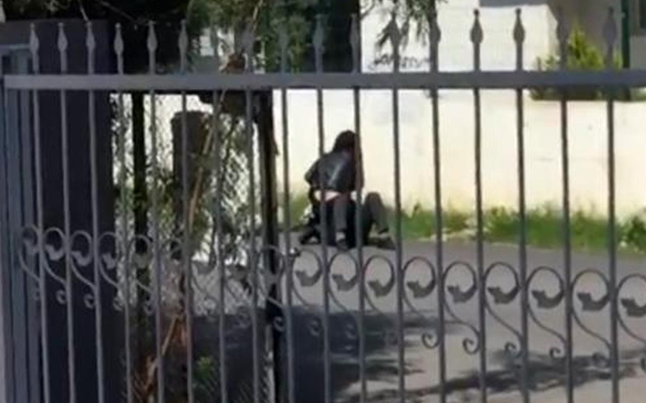 Antalya'da kadın erkeği yere yatırıp 'paramı ver' diyerek darbetti!