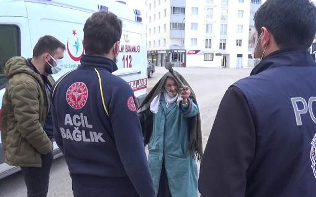 Erzurum'da damadı korona diye eve almadı! Ekipler Sabiha nine için seferber oldu