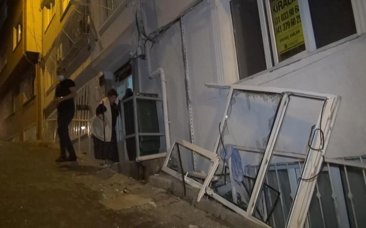 Bursa'da korku dolu anlar! Çakmak gazı bomba gibi patladı pencereyi yerinden söktü