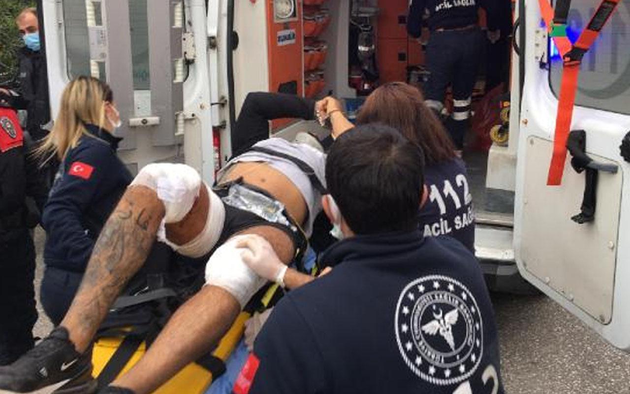 İzmir'de adliyeden kelepçeli kaçmaya çalışan şüpheli, bacaklarından vurularak yakalandı