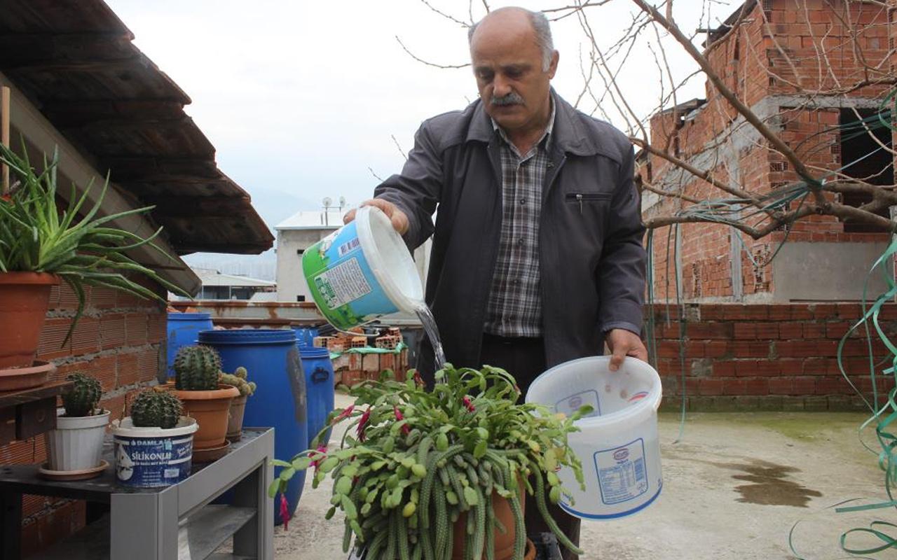 Tonlarca su tasarruf etti! Bursa'da faturayı düşürmenin yöntemini buldu