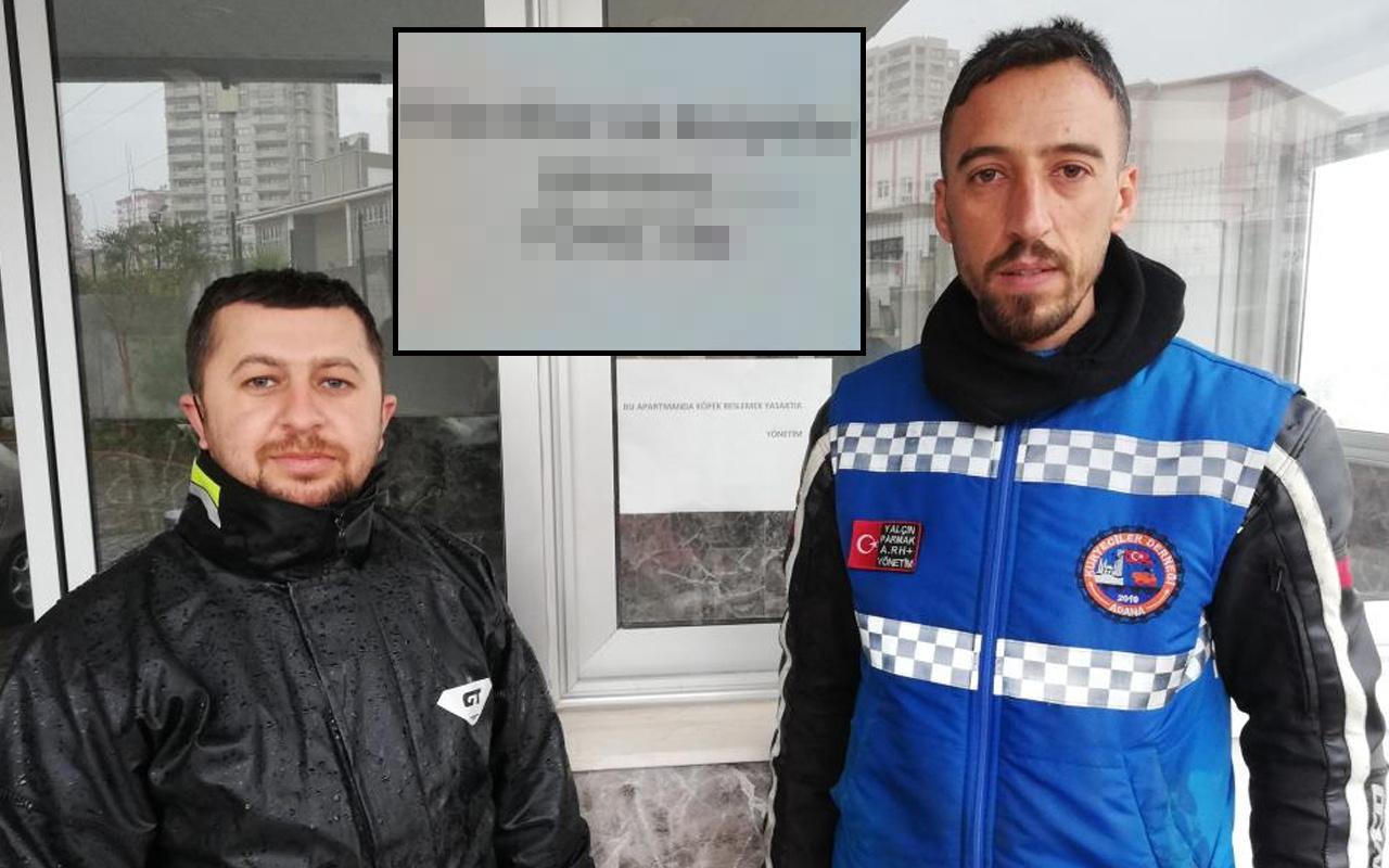 Adana'da apartmanda skandal yazı: İlk defa böyle bir şeyle karşılaştık