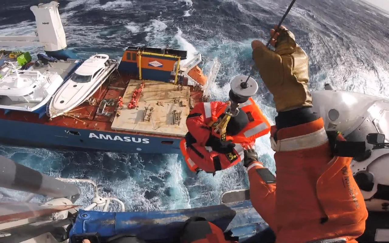 Hollanda bandıralı geminin mürettebatı ölümden böyle kurtarıldı