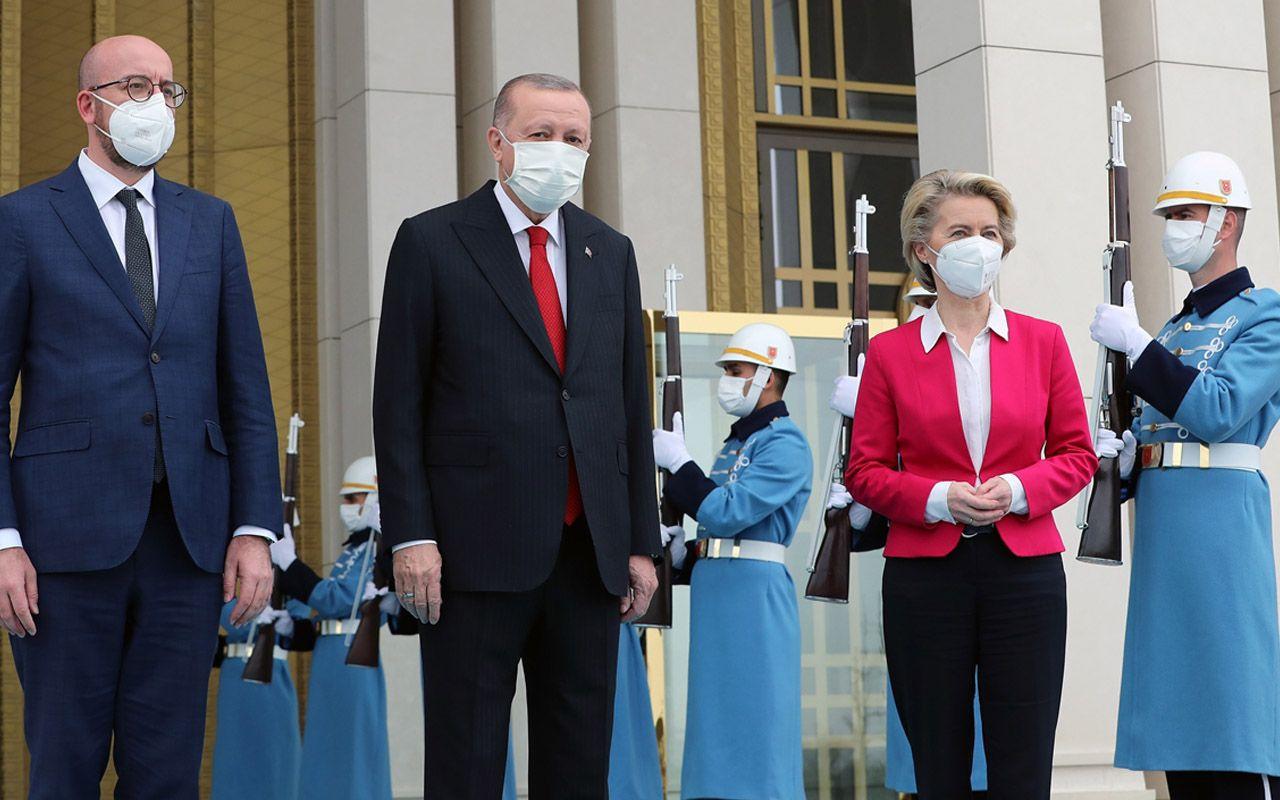 Cumhurbaşkanı Recep Tayyip Erdoğan, AB heyetini kabul etti