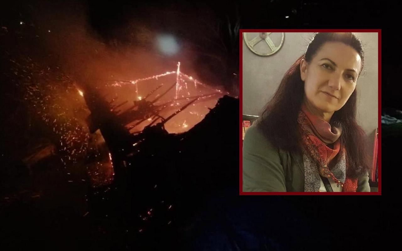 Trabzon'da babasının yangında evde olduğunu düşünen kadın fenalaşıp öldü