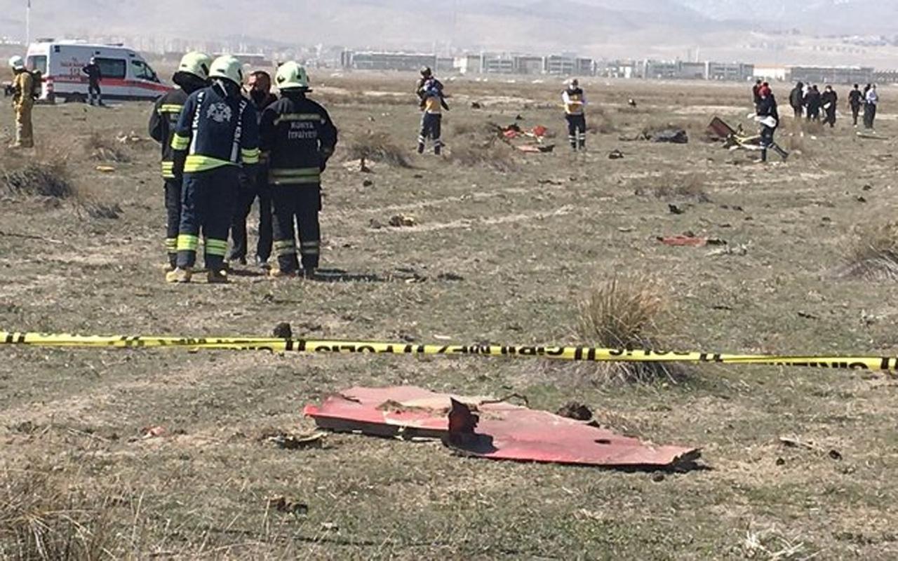 Konya'da Türk Yıldızlarından askeri gösteri uçağı düştü! Pilot şehit oldu