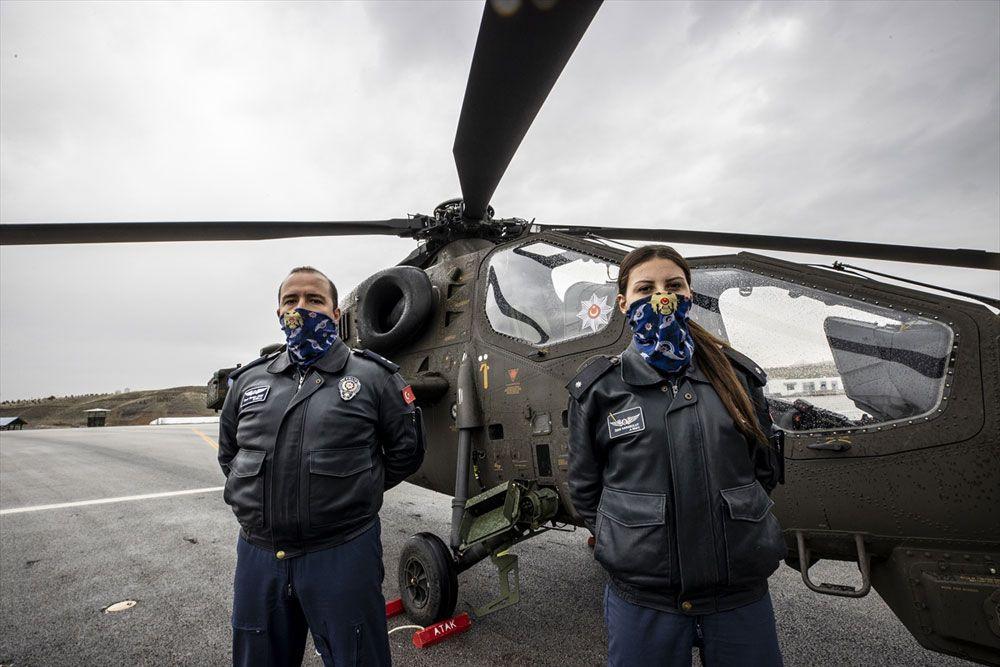 Türkiye'nin ilk kadın taarruz helikopter pilotu! Komiser Yardımcısı Özge Karabulut tarihe geçti