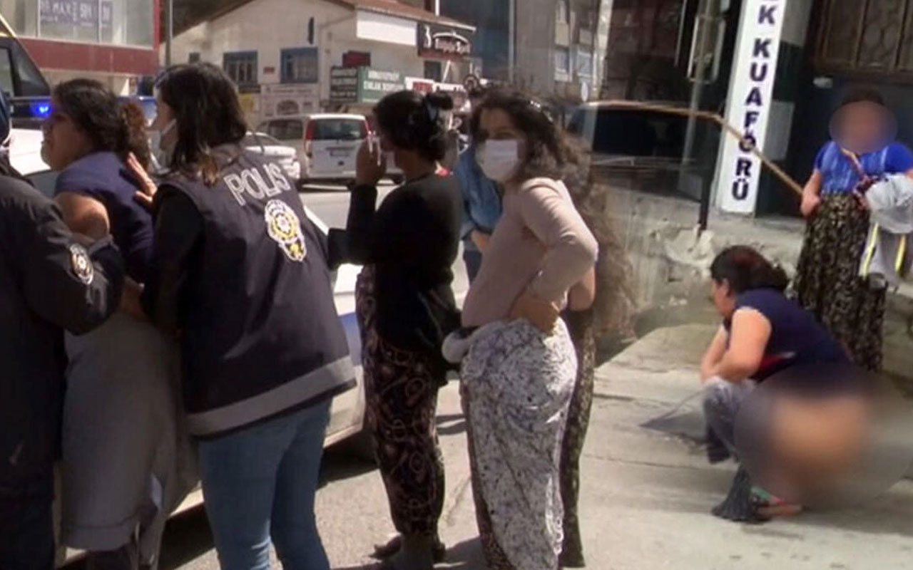 Arnavutköy'de kadınların polisten kurtulmak için tepki çeken yöntemi