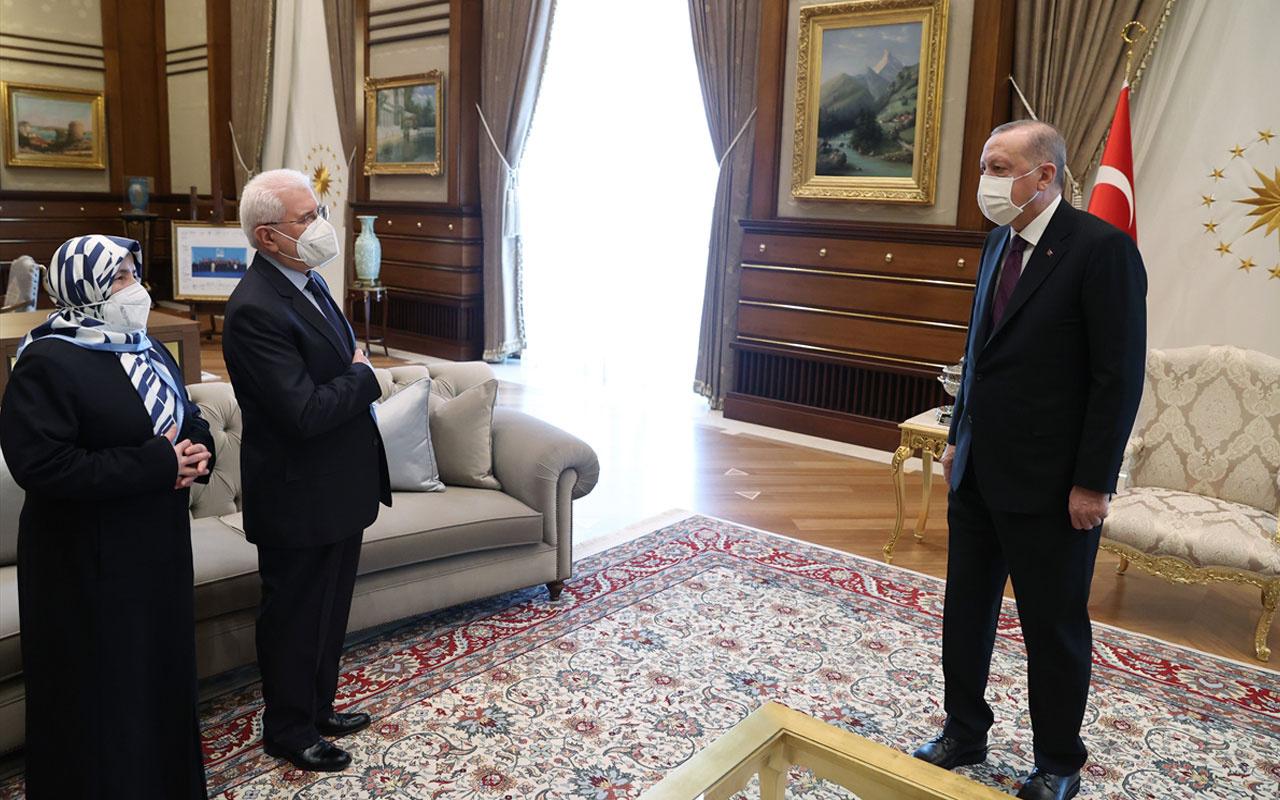 Cumhurbaşkanı Erdoğan, şehit Savcı Mehmet Selim Kiraz'ın anne ve babasını kabul etti