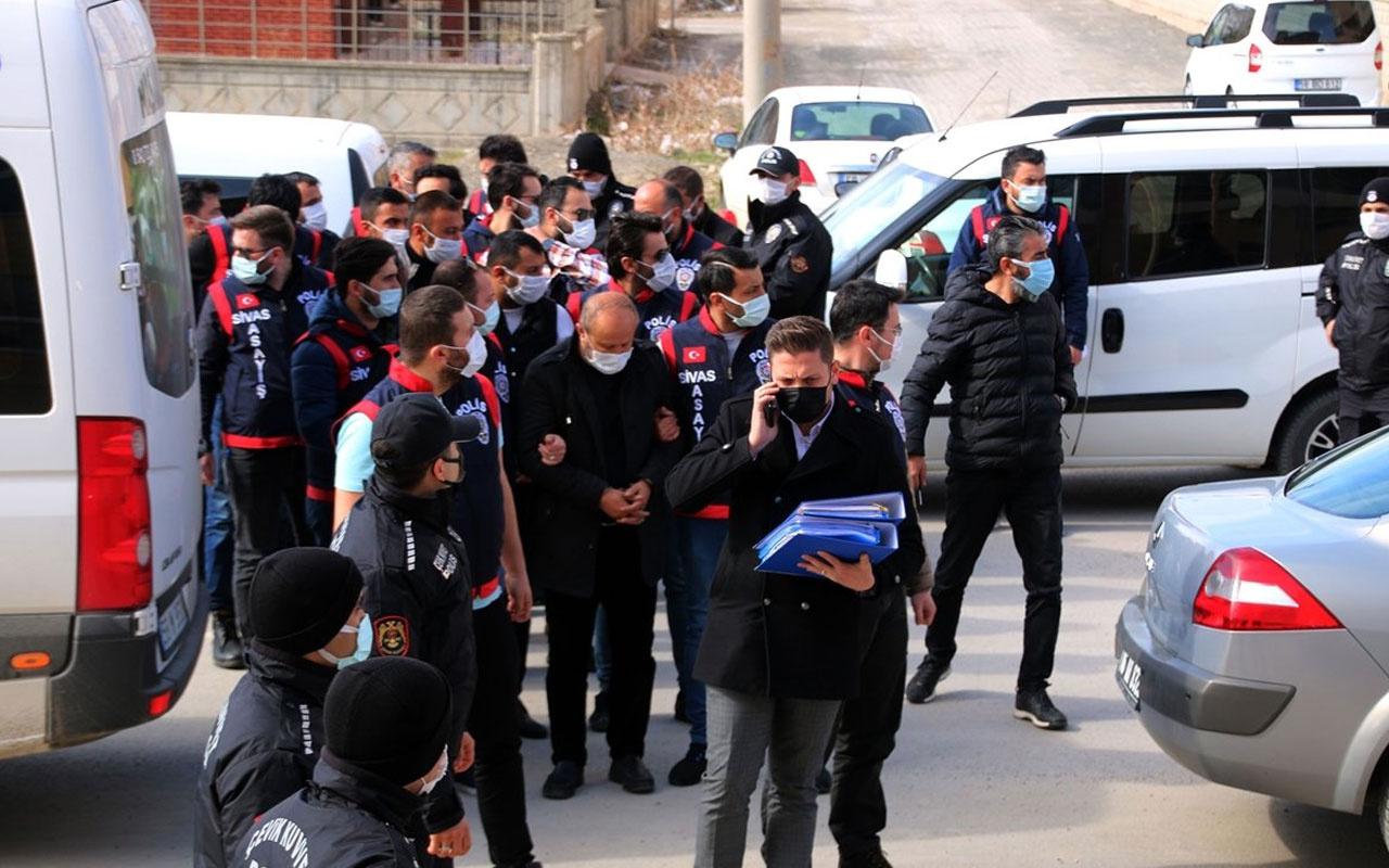 Sivas'ta suç örgütüne operasyon: 7 gözaltı