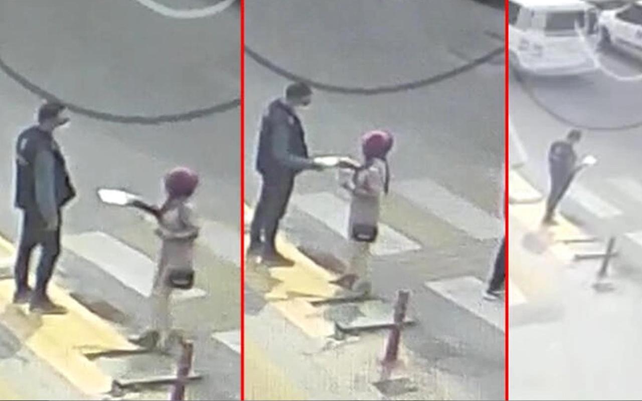 Mersin'de şaşırtan anlar! Elinde kağıtla gelip polise verip gitti