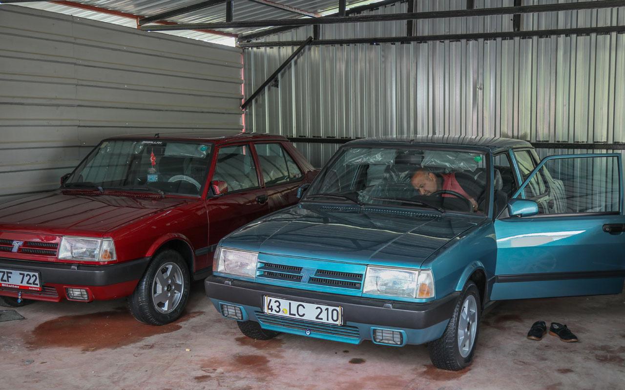 1994 model Doğan otomobili fabrikadan çıktığı haliyle koruyor muayeneye çekiciyle götürüyor