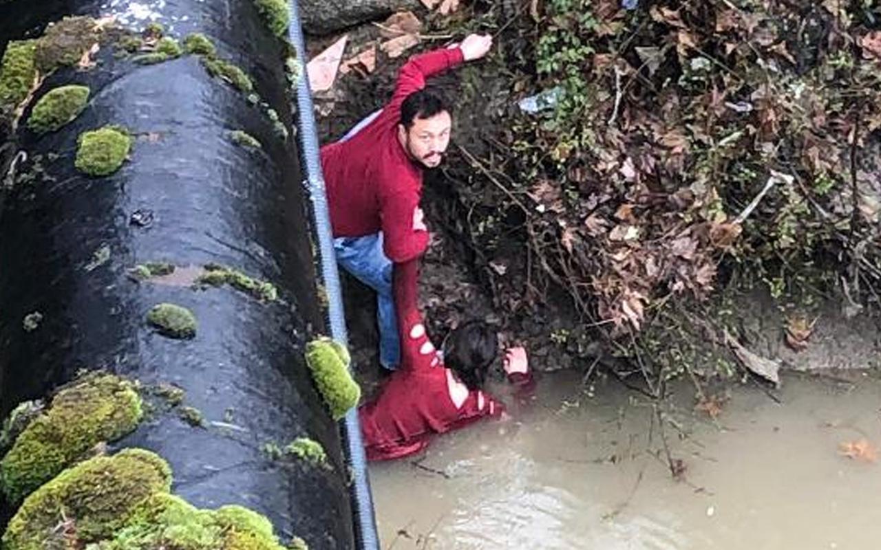 Bartın'da köprüden ırmağa atlayan genç kıza yardım eli