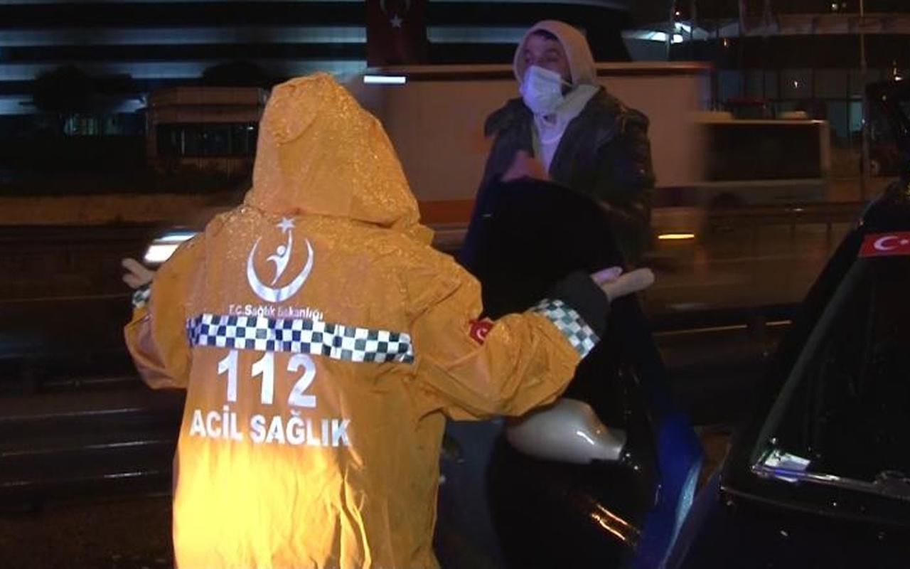 İstanbul'da kazada yaralandı sağlıkçılara zor anlar yaşattı