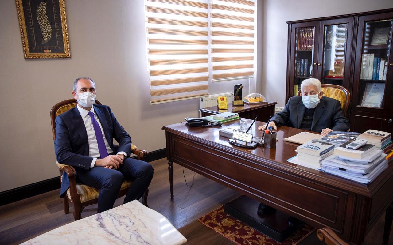 Adalet Bakanı Abdülhamit Gül'den Recai Kutan'a ziyaret!