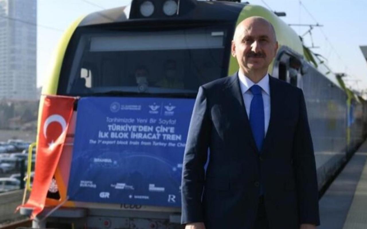 Karaismailoğlu: Bakü-Tiflis-Kars Demir Yolu'nda taşınan yük 155 bin tona yükseldi