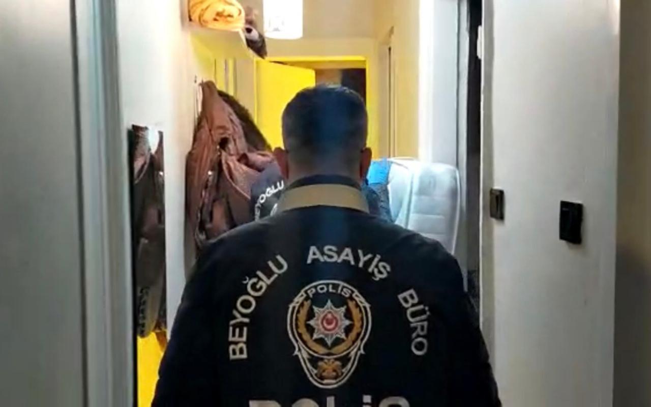 Bez dolaptaki sera polisi bile şaşkına çevirdi sevgili çift tutuklandı