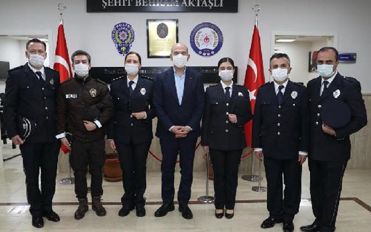 İçişleri Bakanı Süleyman Soylu, Şehit Behram Aktaşlı Polis Merkezi Amirliği'ni ziyaret etti