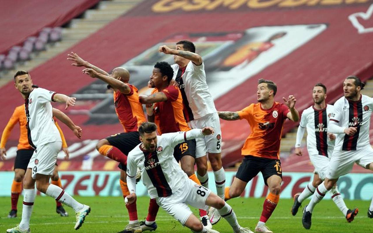 Galatasaray- Fatih Karagümrük Süper Lig maç sonucu: 1-1