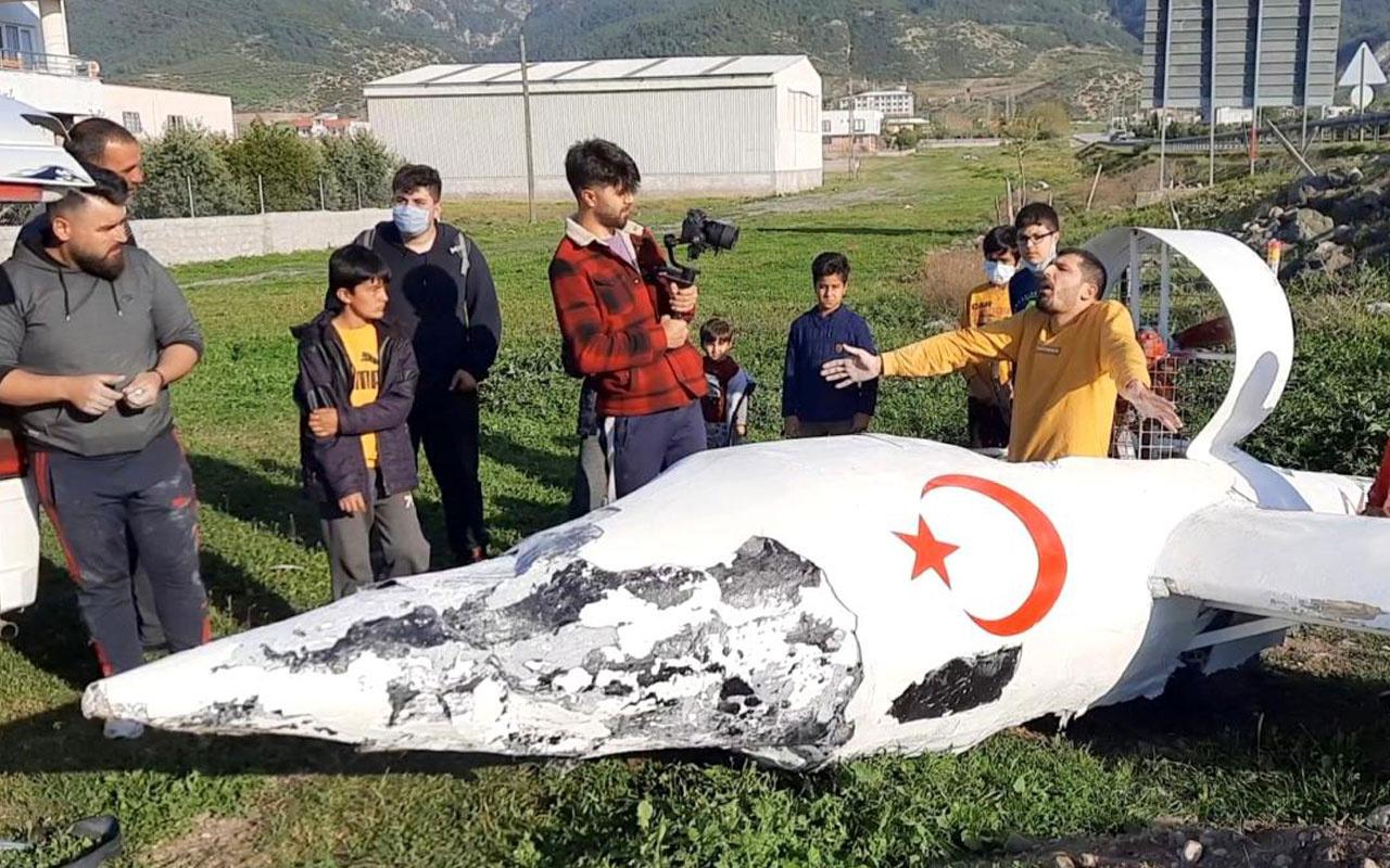 Osmaniye'de garip bir olay hava aracı düştüğünü duyan koşup geldi