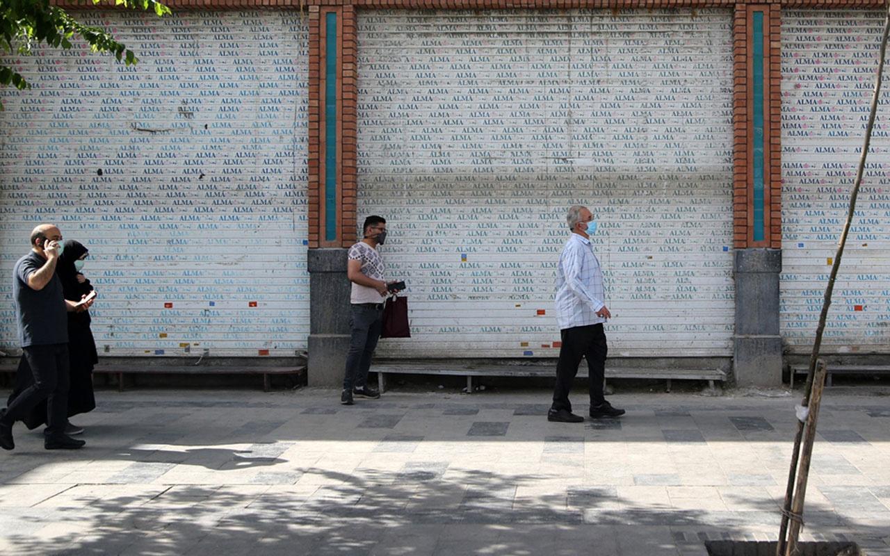 İran'da vaka sayıları fırladı 10 gün yasak geldi esnaf tepkili