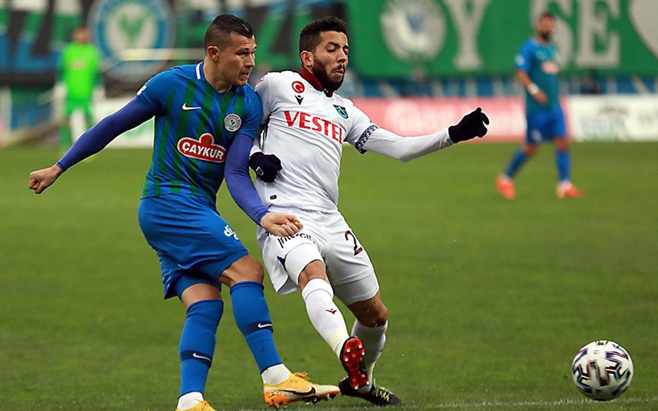 Çaykur Rizespor-Trabzonspor Süper Lig maç sonucu: 0-0