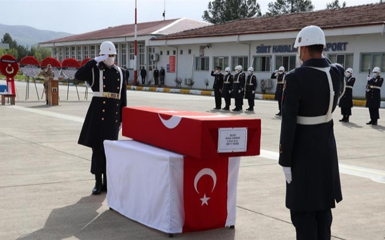 Siirt'te şehit olan askerimiz için askeri tören düzenlendi
