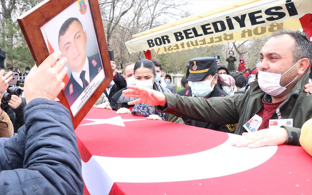 Siirt'te terör örgütü PKK'ya yönelik operasyonda şehit olan asker Niğde'de son yolculuğuna uğurlandı