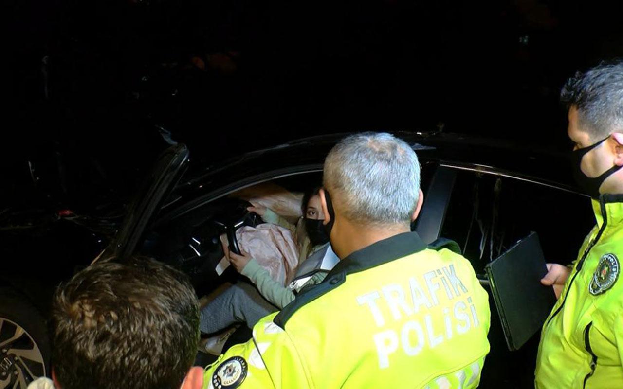 Kartal'da bir garip kaza! Kadın 'ben kullanıyordum' dedi ama polis inanmadı