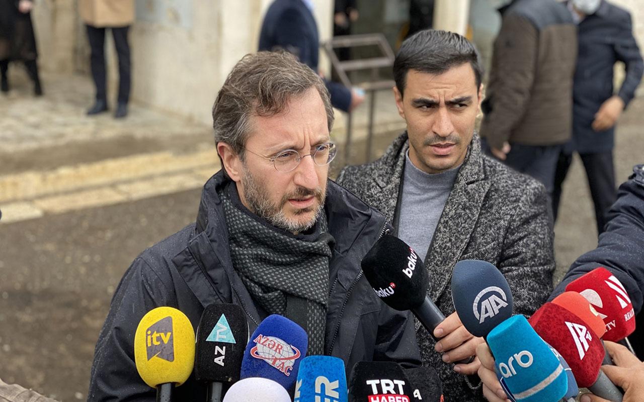 Fahrettin Altun'dan Karabağ'daki yıkımı görmezden gelen uluslararası topluma tepki