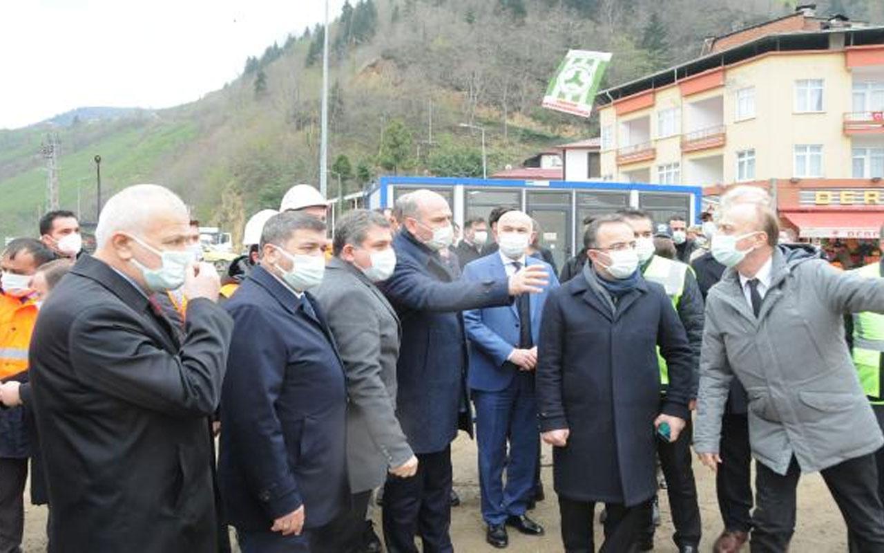 İçişleri Bakanı Süleyman Soylu, Giresun'da incelemelerde bulundu