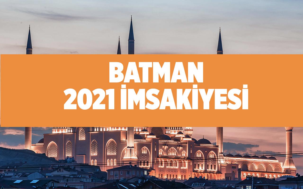 Batman sahur vakti kaçta 2021 Diyanet Batman imsakiyesi